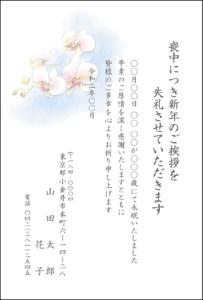 喪中はがき㉛ カラータイプ 胡蝶蘭 2020年